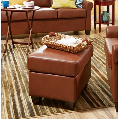 James Ottoman Upholstery: Medium Brown