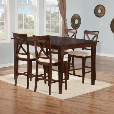 Crestwood 5 Piece Dining Set Finish: Antique Walnut