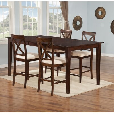 Crestwood 5 Piece Counter Height Dining Set Finish: Antique Walnut