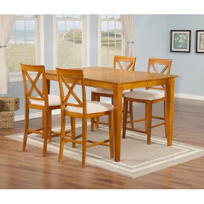 Crestwood 5 Piece Counter Height Dining Set Finish: Caramel Latte