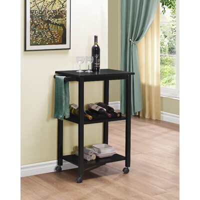 Etta Kitchen Cart Finish: Black