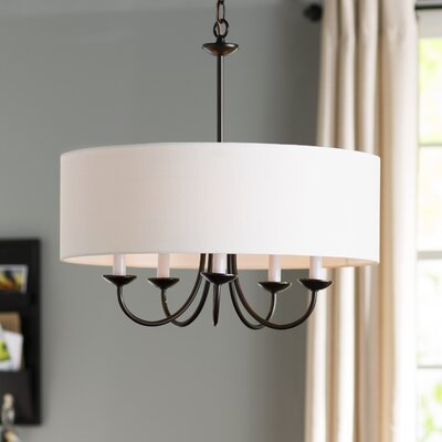 Burton 5-Light Drum Chandelier Finish: Antique Bronze