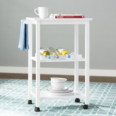 Etta Kitchen Cart Finish: White