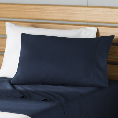 Martha Sheet Set Size: Twin, Color: Navy