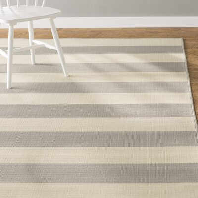 Alford Grey/Ivory Indoor/Outdoor Area Rug Rug Size: Rectangle 37 x 56