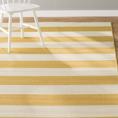 Alford Hand-Woven Yellow Indoor/Outdoor Area Rug Rug Size: Rectangle 19 x 39