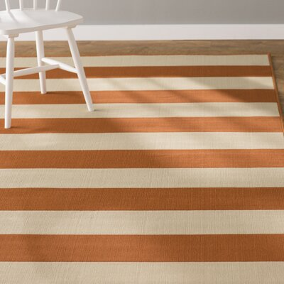 Alford Orange Indoor/Outdoor Area Rug Rug Size: 37 x 56