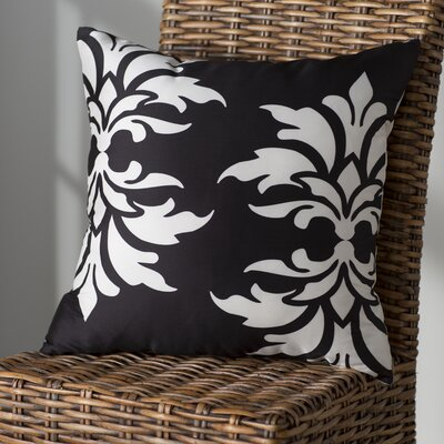 Eudora Double Outdoor Throw Pillow Color: Black