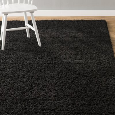 Lilah Black Area Rug Rug Size: Rectangle 7 x 10