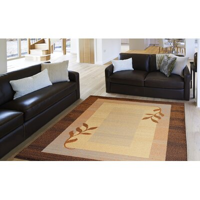 Eugenia Brown Area Rug Rug Size: 18 x 28