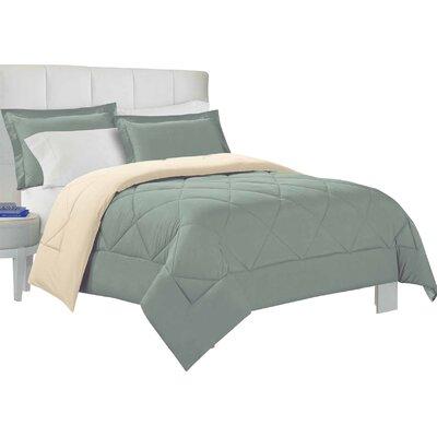 Bruno Comforter Set Size: Twin, Color: Eucalyptus / Stone