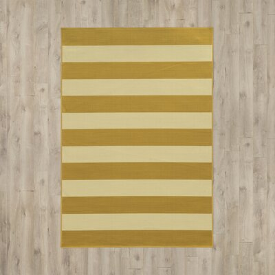 Alford Hand-Woven Yellow Indoor/Outdoor Area Rug Rug Size: Rectangle 53 x 76