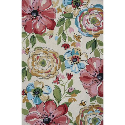 Hermina Hand-Hooked Sand Area Rug Rug Size: Rectangle 33 x 53