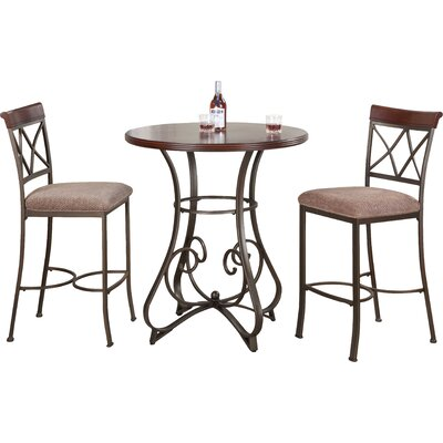 Lina 3 Piece Pub Table Set