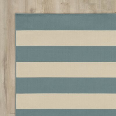 Alford Dark Teal Indoor/Outdoor Area Rug Rug Size: Rectangle 19 x 39