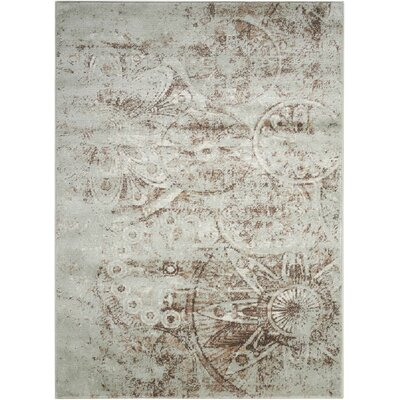 Armand Gray/Light Brown Area Rug Rug Size: Rectangle 53 x 73