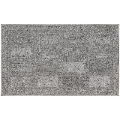 Seema Geometric Gray Area Rug Rug Size: 16 x 26