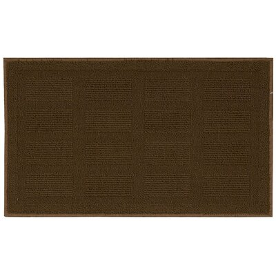 Seema Geometric Brown Area Rug Rug Size: 16 x 26