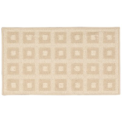 Seema Geometric Cream Area Rug Rug Size: Rectangle 26 x 4