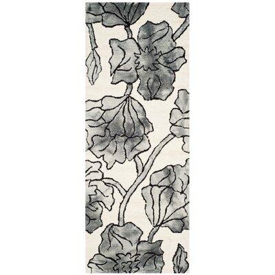 Millie Hand-Tufted Ivory/Light Gray Area Rug Rug Size: Runner 23 x 6