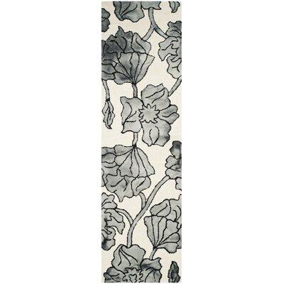 Millie Hand-Tufted Ivory/Light Gray Area Rug Rug Size: Runner 23 x 8