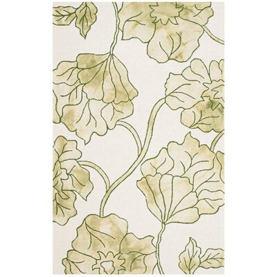 Coleman Hand-Tufted Ivory/Light Green Area Rug Rug Size: 4 x 6