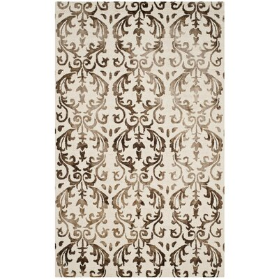 Coleman Hand-Tufted Ivory/Chocolate Area Rug Rug Size: Rectangle 5 x 8