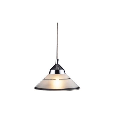 Sharpe 1-Light Mini Pendant Finish: Polished Chrome and Etched Clear Glass