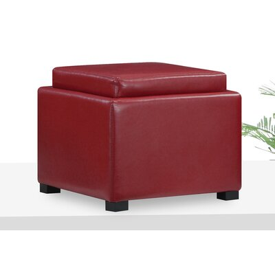 Seeman Storage Ottoman Color: Red