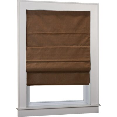 Richmond Blackout White Roman Shade Size: 32 W x 63 L, Finish: Cocoa