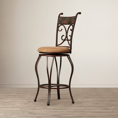 Idella 29 Swivel Bar Stool with Cushion