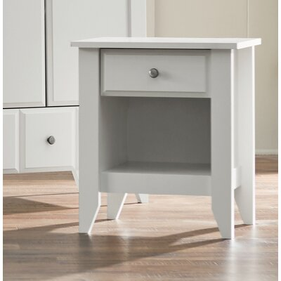 Revere 1 Drawer Nightstand Color: Soft White