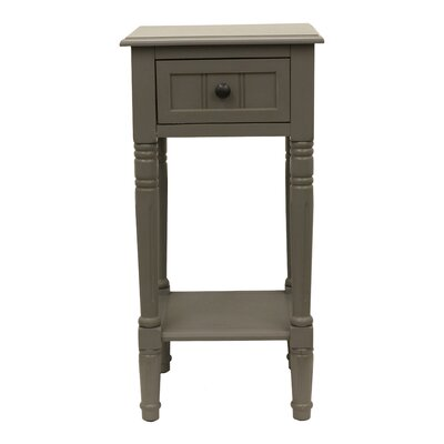 Everly 1 Drawer End Table Finish: Eased Edge Gray