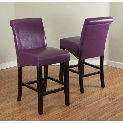 26 Bar Stool Upholstery: Boysenberry