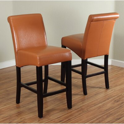 26 Bar Stool Upholstery: Worn Brown