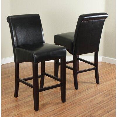 Bailey 26 Bar Stool Upholstery: Black