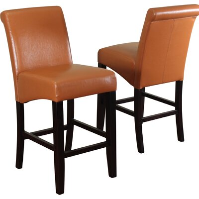 Bailey 26 Bar Stool Upholstery: Worn Brown