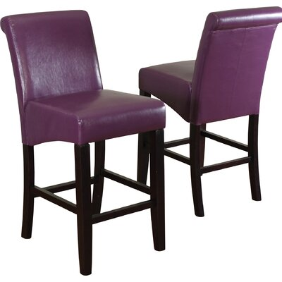 Bailey 26 Bar Stool Upholstery: Boysenberry