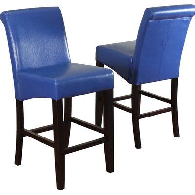 Bailey 26 Bar Stool Upholstery: Blue