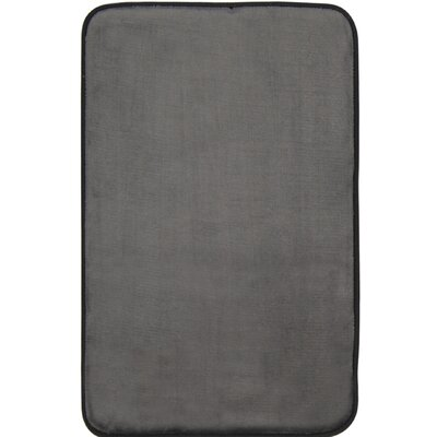 Guilford Luxury Bath Rug Color: Dark Gray