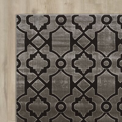 Alica Geo Gray/Black Area Rug Rug Size: 8 x 10