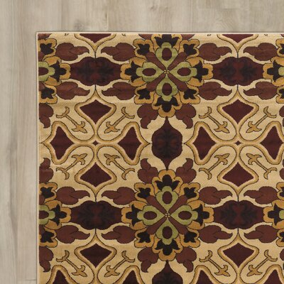 Alica Brown/Beige Area Rug Rug Size: Rectangle 8 x 10