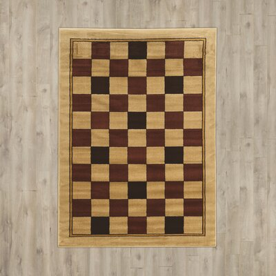 Alica Boxes Brown/Beige Area Rug Rug Size: 2 x 3