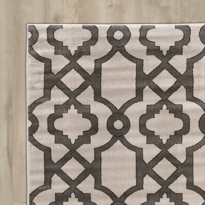Alica Geo Light Gray Area Rug Rug Size: 5 x 73