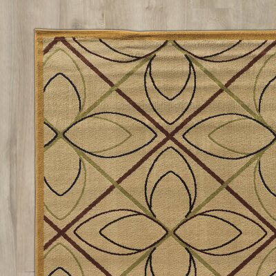 Alica Double Star Cream Area Rug Rug Size: Rectangle 5 x 73