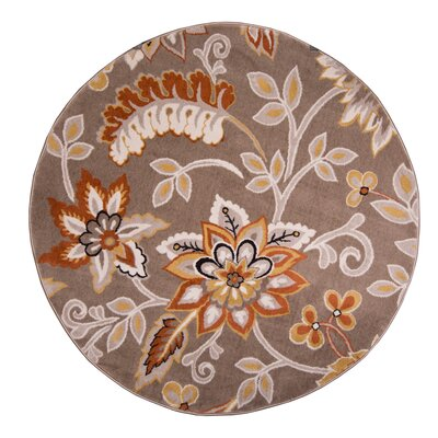 Selina Hand Tufted Brown Area Rug Rug Size: Round 710