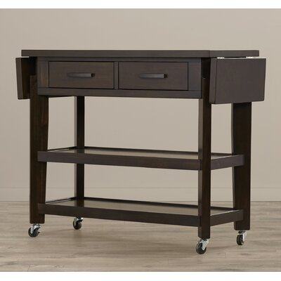 Inez Kitchen Island with Wood Top