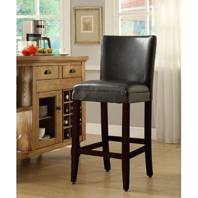 Mason 27.5 Bar Stool Upholstery: Brown