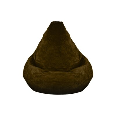 Dudley Adult Plush Bean Bag Lounger Upholstery: Brown