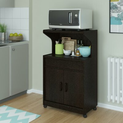 Howland Microwave Cart Finish: Black